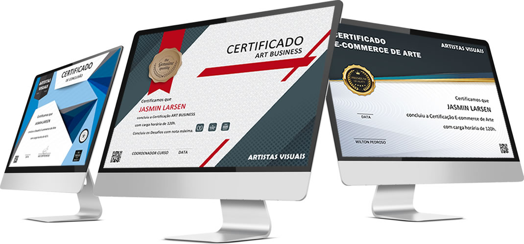 Certificado de participacao do curso
